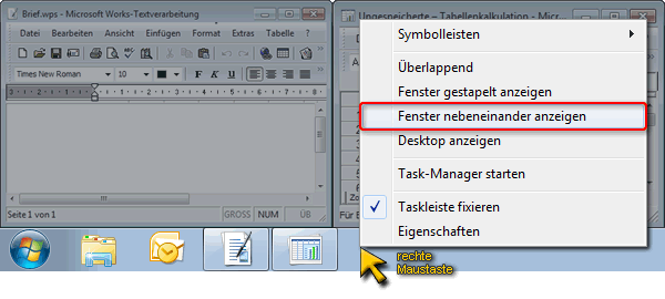 ansicht taskleiste windows 10