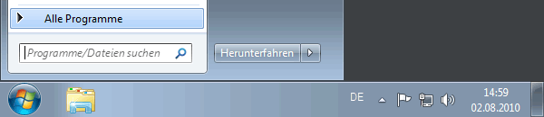 Windows 7 Startmenü - Alle Programme